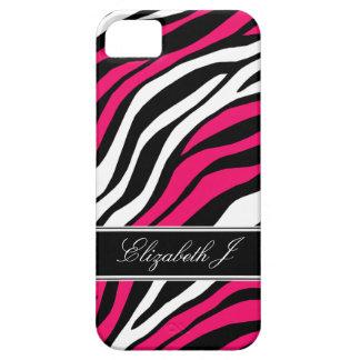 Zebra Print Mix Fuchsia iPhone 5 Case