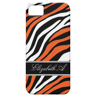Zebra Print Mix Orange iPhone 5 Case