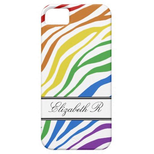Zebra Print Mix Rainbow iPhone 5 Case