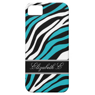 Zebra Print Mix Turquoise iPhone 5 Case