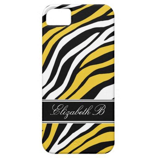 Zebra Print Mix Yellow iPhone 5 Case