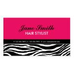 Zebra Print Modern Elegant Hair Stylist Hot Pink
