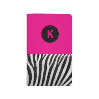 Zebra Print Monogram Notebook
