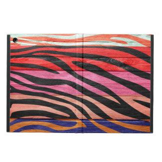 Zebra Print on Wood #12 iPad Air Cover