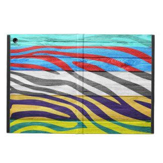 Zebra Print on Wood #13 iPad Air Cover