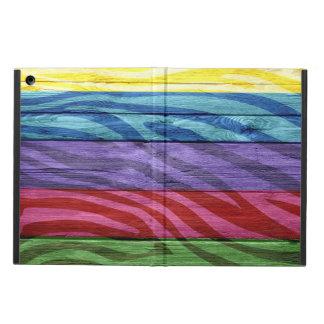 Zebra Print on Wood #3 iPad Air Covers