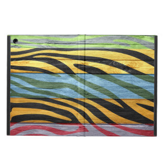 Zebra Print on Wood Case For iPad Air