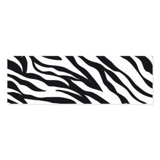 Zebra Print Pack Of Skinny Business Cards