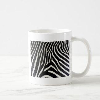 Zebra print pattern basic white mug