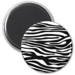 Zebra Print Pattern - Black and White