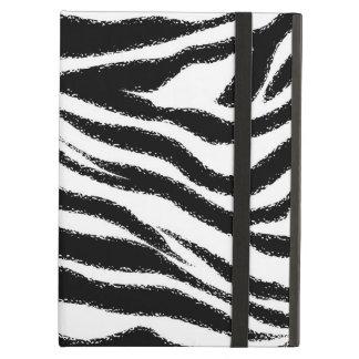 Zebra Print Pattern Black and White iPad Air Case