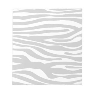 Zebra Print Pattern - Black and White Notepad