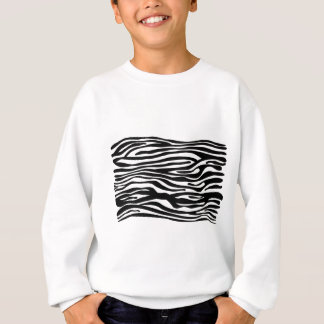 Zebra Print Pattern - Black and White Sweatshirt