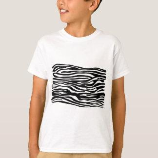 Zebra Print Pattern - Black and White T-Shirt