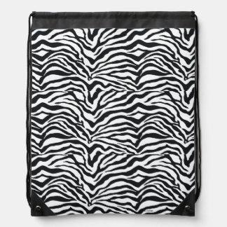 Zebra Print Pattern Drawstring Backpack