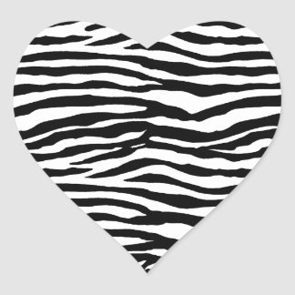 Zebra Print Pattern Heart Sticker