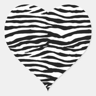 Zebra Print Pattern Heart Sticker