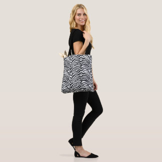 Zebra Print Pattern Tote Bag