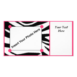 Zebra Print Photo Card