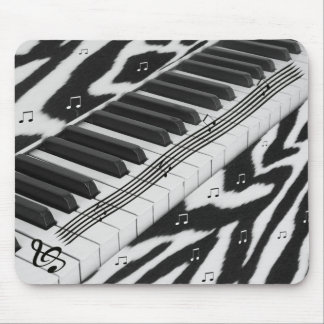 Zebra Print Piano Keyboard Mouse Mat