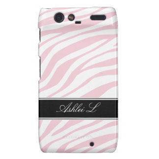 Zebra Print Pink White Droid RAZR Case