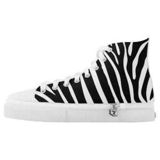 Zebra Print Printed Shoes