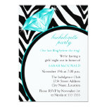 Zebra Print & Ring  Bachelorette Party Invitation 13 Cm X 18 Cm Invitation Card