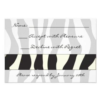Zebra Print RSVP Custom Invite