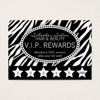 Zebra Print Salon Loyalty Rewards Card