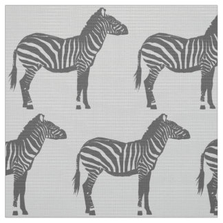 Zebra Print - Shades of Grey / Gray Fabric