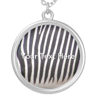 Zebra Print Silver Plated Necklace