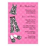 Zebra Print Slumber Party Invitations Custom Invite
