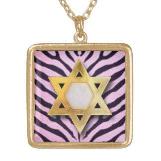 Zebra Print Star Of David pendants original art