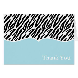 Zebra Print Thank You Cards