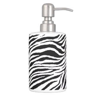 ZEBRA PRINT-Toothbrush Holder and Soap Dispenser