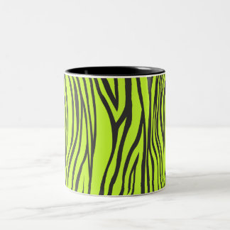 zebra print Two-Tone coffee mug
