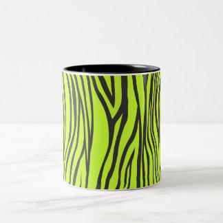 zebra print Two-Tone mug