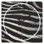Zebra Print Wall Clocks