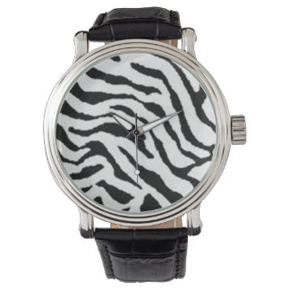 Zebra print watch