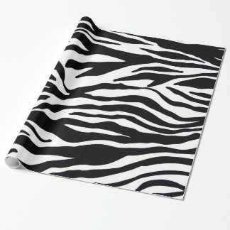 Zebra Print Wrapping Paper