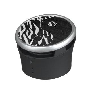 Zebra Print Yin Yang Symbol Speaker