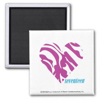 Zebra Purple 2 Fridge Magnets