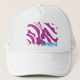 Zebra Purple 3 Trucker Hat