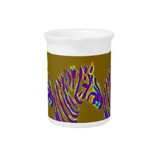 Zebra Purple Glow Pitcher