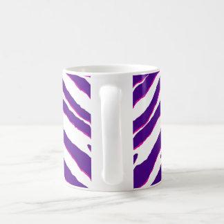 Zebra Purple-Shocking pink/white Basic White Mug