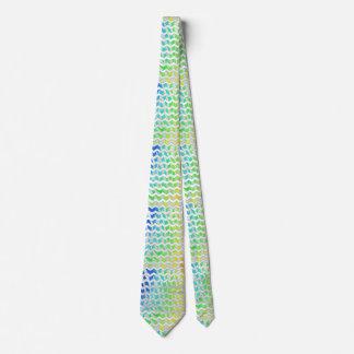 Zebra Rainbow and White Print Tie