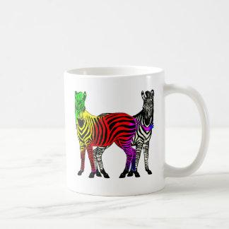 ZEBRA RAINBOW & BLACK/WHITE COFFEE MUG