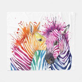 Zebra Rainbow Blanket