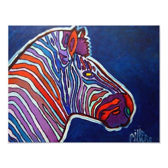 Zebra Rainbow by Piliero Card