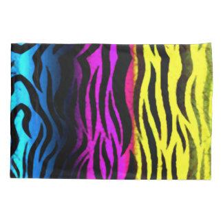 Zebra Rainbow Grunge Stripes Animal Print Pillowcase